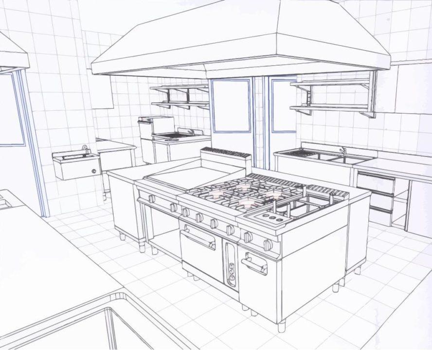 progettare la cucina di un ristorante